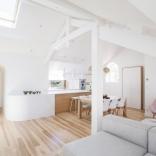 Rénovation d'un appartement sous les toits à Biarritz