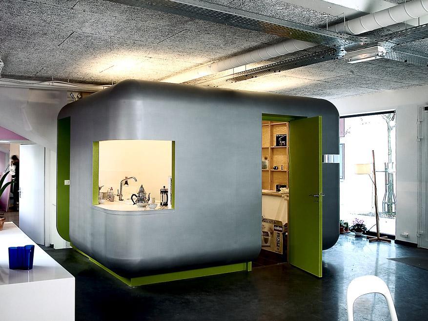 am nagement d 39 un p le cuisine et reprographie pour un cabinet d 39 architecte. Black Bedroom Furniture Sets. Home Design Ideas